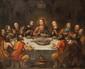 Ecole provençale du XVIIème siècle La Cène. Toile. 118 x 147 cm.