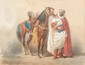 Theodore FORT (1810-1896) Spahi. Aquarelle. Signée en bas à gauche. 30 x 40 cm.