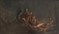 Ecole HOLLANDAISE du XVIIème siècle, entourage de Leonard BRAMER Le reniement de saint Pierre. Panneau. 28 x 46 cm.
