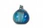Rambervillers / Cytère  Pot à tabac modèle « Coloquinte » en  céramique irisée dans les tons de bleu.  Signé. H. : 17 cm.