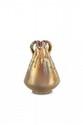 Jérôme Massier (1850-1916)  Vase de forme conique à trois anses naturalistes en  céramique irisée dans les tons de doré nuancé. Signé  et situé Golfe Juan.  H. : 19 cm.