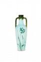 Delphin Massier (1836-1907)  Vase de forme amphore à deux anses à  décor floral peint sur fond beige. Dédicacé  «Given to Mme Bourée for Christmas 1898».  Signé. H. : 25 cm.