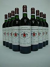 9 bouteilles   CHÂTEAU LA GAFFELIERE 1998 GCC1B St Emilion