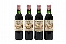 4 bouteilles   VIEUX CHÂTEAU CERTAN 1982 Pomerol (3 B.G; 1 T.L.B; 1 e.l.s; 1 e.l.a.)