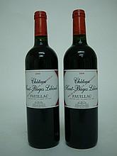 2 bouteilles   CHÂTEAU HAUT BAGES LIBERAL 2008 GCC5 Pauillac