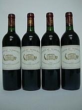 4 bouteilles   CHÂTEAU MARGAUX 1985 GCC1 Margaux (2 B.G; 1 e.t.h. légère; 1 accroc capsule)