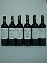 6 bouteilles   CHÂTEAU MARQUIS DE TERME 2005 GCC4 Margaux