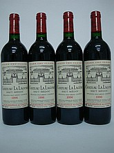 4 bouteilles   CHÂTEAU LA LAGUNE 1996 GCC3 Haut Médoc