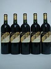 5 bouteilles   CHÂTEAU LATOUR MARTILLAC Rouge 2008 CC Graves (1 e.l.a.)