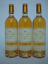 3 bouteilles   CHÂTEAU D'YQUEM 1999 C1 Supérieur Sauternes