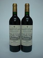 2 bouteilles   CHÂTEAU LA MISSION HAUT BRION 1995 CC Graves