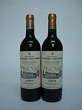 2 bouteilles   CHÂTEAU LA MISSION HAUT BRION 1994 CC Graves (1 accroc infime étiquette sinon parfaites)
