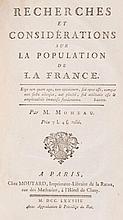 MOHEAU (Jean-Baptiste)   - Recherches et considérations sur la population de la France.