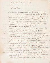 LAURENS  Jules. Peintre (1825-1921). L.A.S. à une dame, Montpellier 29 juin 1877