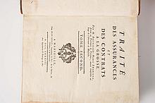 EMERIGON (Balthasar-Marie) - Traité des Assurances et des Contrats à la Grosse.