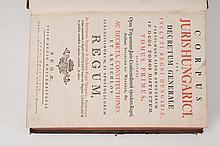 [WERBOCZI (Istvan)] -  Corpus Juris Hungarici, Seu Decretum Generale Inclyti Regni Hungariae, Partiumque Eidem Annexarum in Duos Tomos Distinctum. (?)