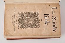 [anonyme] - La Saincte Bible [suivi de] Nouveau Testament de Nostre Seigneur Jésus Christ.