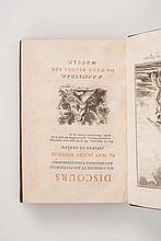 ROUSSEAU (Jean-Jacques) - Discours sur l'origine et les fondemens de l'inégalité parmi les hommes.