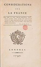 MAISTRE (Joseph de). - Considérations sur la France.