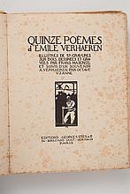 VERHAEREN (Emile) ? [MASEREEL]. - Quinze poèmes.