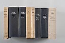 [COLLECTIF] - Histoire du commerce de Marseille. Paris, Plon, 1949-1966. 7 tomes + 1 volume d'index des tomes 1 à 4. 8 volumes In-8, Tomes 1-4-7-index brochés, tomes 2-3-5-6 reliés. Reproductions de documents noir et blanc, carte rempliée. Envoi de