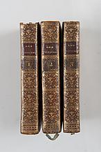 BARRUEL, (Augustin Abbé de) - Les Helviennes ou Lettres Provinciales Philosophiques, Nouvelle Édition. (3 volumes complet) Amsterdam et Paris, chez Moutard, 1784-1785. 3 volumes in-12, XI-408p-LXXV-312p-335p. Reliure plein veau marbrée, dos lisse