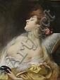 DELPHIN ENJOLRAS (1857-1945)Jeune femme.Pastel.Signé en haut à droite.67 x 82 cm.