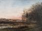 Adolphe Félix CALS (1810-1880)  Paysage.  Huile sur toile. Signée en bas à gauche.  24 x 32,5 cm.