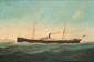 Marie-Edouard ADAM (1847-1929)  Portrait du bateau Ermance Conseil.  Huile sur toile.  Signée et datée 1901 en bas à droite.  62 x 92 cm.