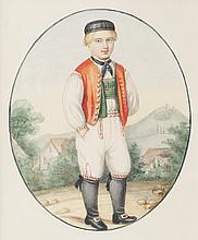 Nicolas ven der WAAG (1855-1936)   Jeune garçon.   Aquarelle.   Signée en bas à gauche.   25 x 21 cm.