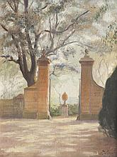 Gabriel GIRODON (1884-1941)   Vue de la Villa Médicis à Rome.   1920.   Paire d'huiles sur toile   marouflées sur panneau.   Signées, datées 1920 et   situées.   42 x 34 cm.