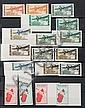 Cote Française des Somalis :  épreuves de luxe dans les années  1960, timbres-poste neufs des  colonies françaises et divers dans 4  classeurs.