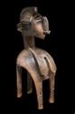 Grand masque d'épaule BAGA NIMBA Région de Boffa en Guinée. Bois à belle patine ancienne. Restauration : Une partie des clous de tapissier, très oxydés, furent remplacés par des neufs au grè des différents propriétaires. Fentes dues à l'âge. H. : 122