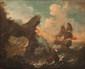 Pieter II MULIER (c.1637-1701)  Attribué à  Navires en mer près des côtes.  Toile.  62 x 74 cm.