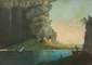 Ecole napolitaine du XIXème siècle  Eruzione di Acqua e cenere 1794.  Gouache.  48 x 70 cm.
