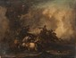 Jacques COURTOIS (1621-1676)  Suiveur de  Scène de bataille.  Toile.  46 x 60 cm.