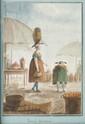 LEMONNIER  Porteries marseillaises  Aquarelle.  Signée et datée 1823 en bas à gauche.  18,5 x 13 cm.