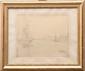 Charles DESAVARY (1837-1885)  Le bassin de Radoub.  Dessin à la mine de plomb.  Signé en bas à gauche.  Situé en bas à droite.  38 x 31 cm.