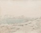 Charles DESAVARY (1837-1885)  Marseille route de la Corniche, les Catalans.  Dessin à la mine de plomb.  Signé en bas à gauche.  Situé en bas à droite.  38 x 31 cm.