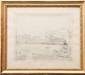 Charles DESAVARY (1837-1885)  Le Vieux Port de Marseille.  Dessin à la mine de plomb.  Signé en bas à gauche.  Situé en bas à droite.  38 x 31 cm.
