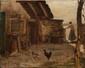 Henri VAN MUYDEN (1860-1936)  Le poulailler.  Huile sur toile. Signée en bas à gauche.  34 x 41 cm.