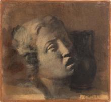 EDGAR DEGAS (1834-1917)  Te?te de jeune fille, d'apre?s Luca della Robbia