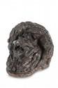 Christophe FRATIN (1801-1864) Console, tête de lion. Sujet en bronze à patine brune. Signé de l'estampille Fratin (N à l'envers), fondu avant 1850. H. : 15,5 cm. L. : 22 cm. P. : 15,5 cm. Provenance : Modèle n° 317 de la vente Fratin de 1850. Lion