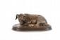 Rosa BONHEUR (1822-1899) Bouc au pré. Sujet en bronze à patine mordorée. Signé et marqué fonte Peyrol. H. : 9 cm. L. : 22,5 cm. P. : 12 cm. Billy Goat. Bronze with golden brown patina. (Signed and marked). 3,5 in. High, 9 in. Wide, 4,7 in. Depth.