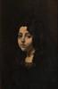Stanislas TORRENTS Y DE AMAT  (1839-1916)  La belle Andalouse.  Huile sur toile.  Signée et dédicacée en bas à droite.  20 x 14 cm.