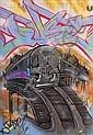 Duster (1964)Sans titre (2011).Aérosol et marqueur sur plan de métro de New York.85 x 60 cm.
