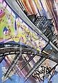 Duster (1964)Sans titre (2010).Aérosol et marqueur sur plan de métro de New York.83 x 58 cm.