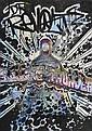 RevoltRolling Thunder (2010).Marqueur sur plan de métro de New York. 83 x 60 cm.