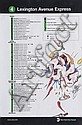 POEM (1964)Big.Marqueur sur plan de ligne de métro.43 x 28 cm.