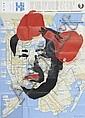 Death NY (1979)Mao Red Map (2011).Aérosol, pochoir sur plan de New York.83 x 60 cm.